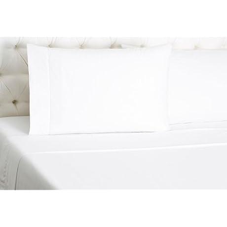 Sferra Matteo White Twin Sheet Set 3PC Hemstitched 100 Egyptian Cotton Sateen Italy