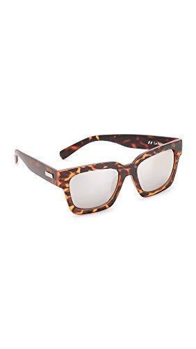 Le Specs Women's Weekend Riot Sunglasses, Matte Tortoise/Silver,