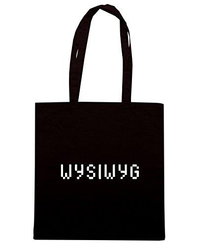 T-Shirtshock - Bolsa para la compra OLDENG00729 wysiwyg Negro