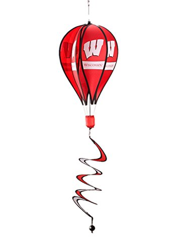 NCAA Wisconsin Badgers Hot Air Balloon Spinner Novelty 11 x 11in ()