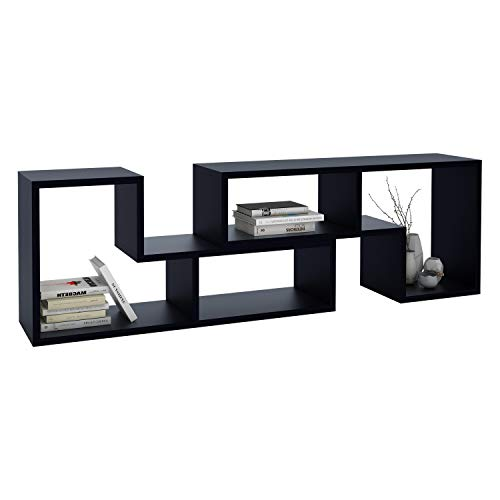 DEVAISE Versatile TV Stand, Entertainment Center Console, Bookshelf for Living Rooms, ()