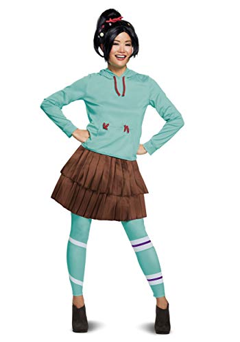 Disguise Women's Vanelope Deluxe Adult Costume, Turquoise, M (8-10)]()