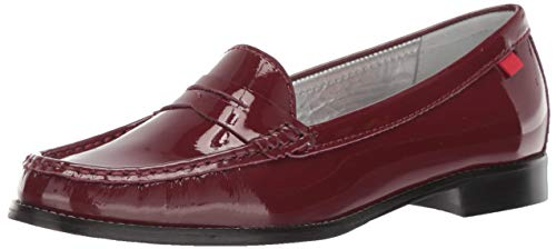 MARC JOSEPH NEW YORK Womens Leather Made in Brazil East Village Loafer, Rouge Patent, 8 M - Joseph Rouge