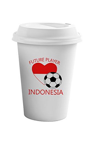 Style In Print Future Soccer Player Indonesia Coffee Ceramic Travel Tumbler Mug 11oz by Style in Print