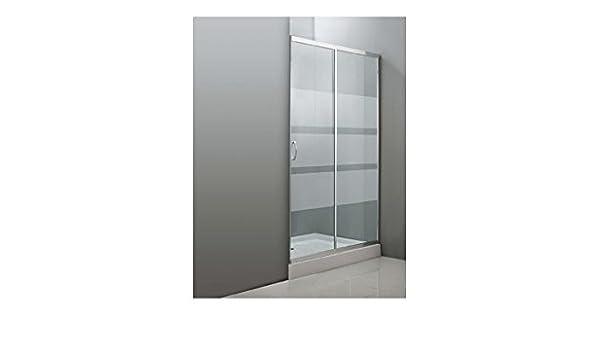 Quality ferretería plus M282356 - Mampara ducha frontal cristal transparente 120 cm: Amazon.es: Bricolaje y herramientas