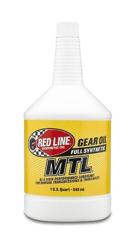 Red Line (50204) SAE 75W80 API GL-4 Manual Transmission and Transaxle Lubricant - 1 Quart (Pack of 2) ()