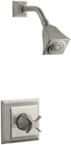 KOHLER K-T462-3S-BN Memoirs Rite-Temp Pressure-Balancing Shower Faucet Trim with Stately Design, Vibrant Brushed Nickel ()