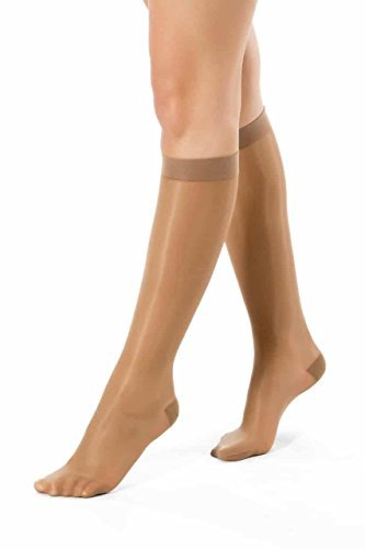 ®BeFit24 Elegant Knee High Graduated Mild Compression Support Socks for Women (10-14 mmHg, 40 Denier) - Great for Swelling Relief, Varicose and Spider Veins Prevention, Ankle Pain, Cramps - [ Size 4 ]