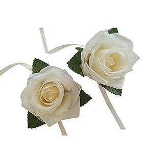 Oyabridal 2pcs Wedding Bridal Corsage Bridesmaid Wrist Flower Corsage Flowers for Wedding 35