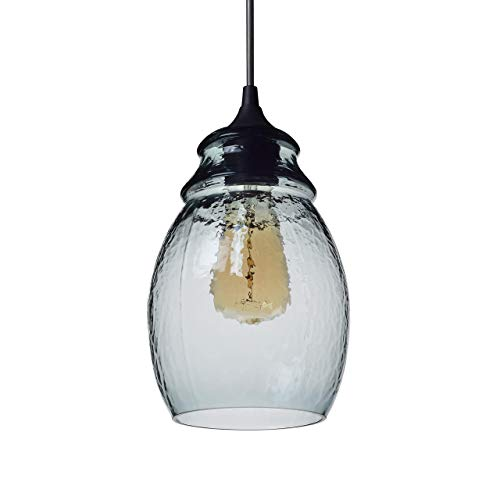 Clear Glass Bell Pendant Lighting in US - 7