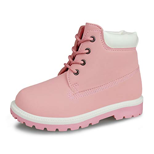 Hawkwell Kids Classic Ankle Boot(Toddler/Little Kid),Pink PU,7 M US ()