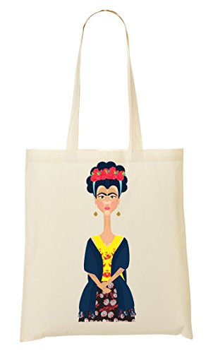 Shopping Borsa Bag Kahlo Ritratto Frida aA7HXw