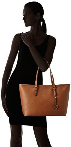 Michael KorsJet Set Travel Saffiano Leather Top-Zip Tote - Bolsa de Asa Superior Mujer Marrón (Luggage)