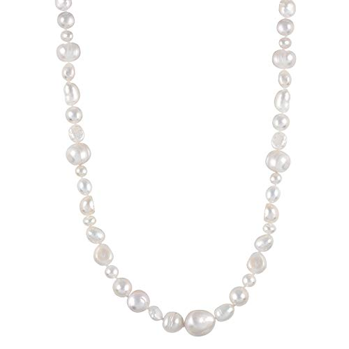 Handpicked A Quality Mixed Sizes White Freshwater Cultured Pearl Strand Endless 36