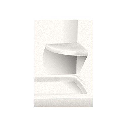 """30%OFF Transolid CSS1414-01 14"""" x 14"""" Solid Surface Wall-Mount Corner Shower Seat, White"""