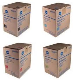 TNP49 Genuine Konica Minolta Toner Value Pack Magenta Black Cyan Yellow