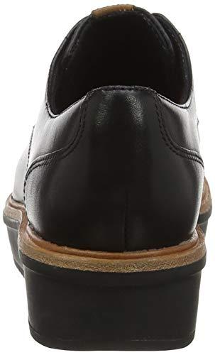 Para Mujer Negro Brogue Zapatos De Leather Cordones Clarks Rhea Teadale black 0qOfUY