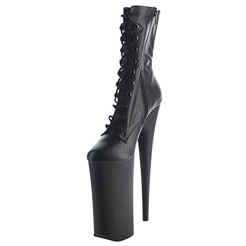Blk Leather Blk BEYOND Faux Pleaser Matte 1020 qRUpwTP