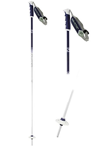 Salomon Angel S3 Women's Ski Pole, White/Purple, 115 (Skis Womens Downhill)