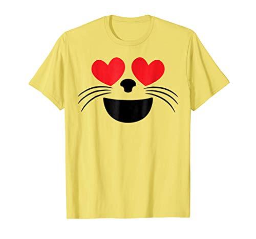 (Halloween Emojis Costume Shirt Heart Eyes Cat Face)