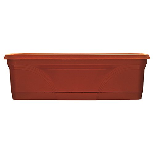 "Southern Patio 24"" Medallion Window Box, Terra Cotta"