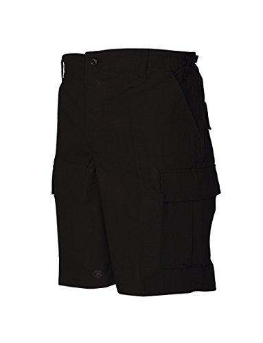 Tru-Spec Shorts, Tru blk 100% CTTN R/S with Zip Fly, Black, X-Large