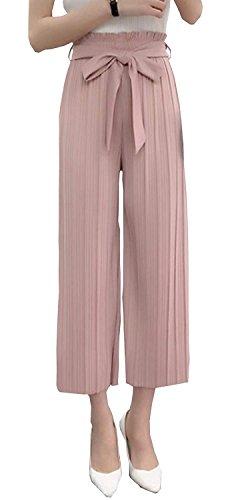 Dritti Estivi Larghi Cintura Elastica Tempo Basic Multistrato Pantaloni Trousers Eleganti Taille Accogliente Giovane Tendenza Inclusa Rosa Lunga Donna Baggy Ragazza Libero Nahen q6AwxBxC