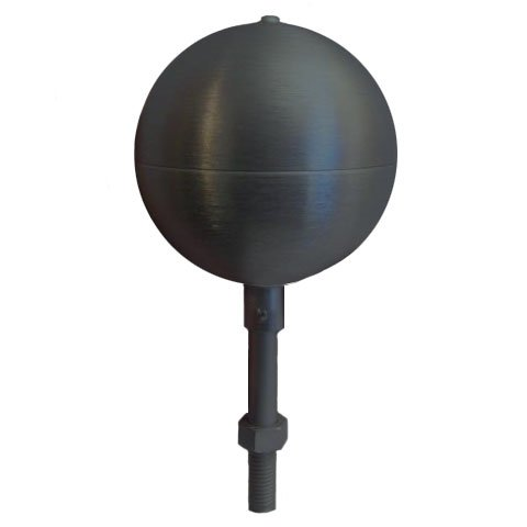 Flagpole ball top ornament 4 Inch Aluminum Anodized Black