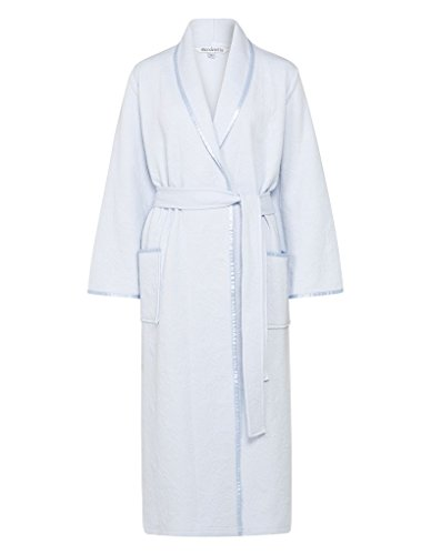 Slenderella HC7302 Women's Blue Floral Dressing Gown Robe Housecoat
