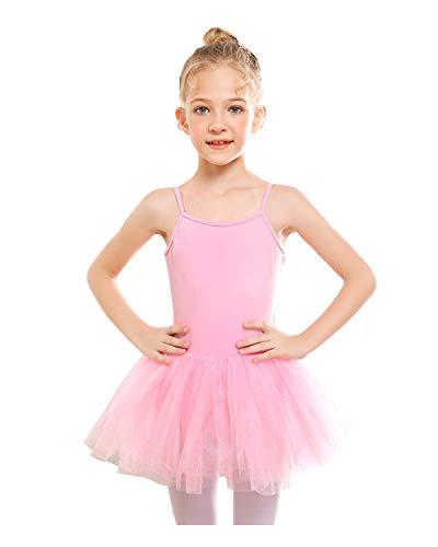 STELLE Girls' Camisole Tutu Dress for Dance, Gymnastics&Ballet (Toddler/Little Kids/Big Kids) (S, Ballet Pink) from STELLE