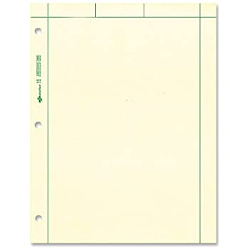 "NATIONAL Brand Computation Pad, Plain & 5 X 5 Quad On Back, Green Paper, 8.5 x 11"" 200 Sheets (42389)"