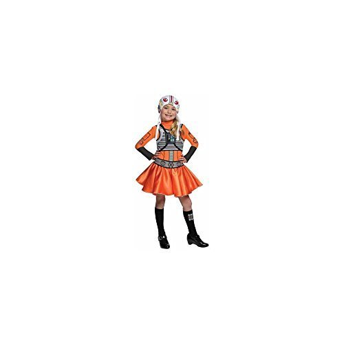X Wing Star Wars Costume (Rubie's Star Wars X-Wing Fighter Tutu Child Halloween Costume Small (4)