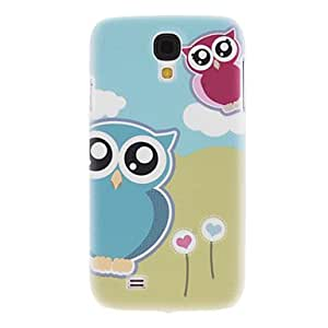 LIMME Matte Style Cartoon Design Owl Pattern Durable Hard Case for Samsung Galaxy S4 I9500