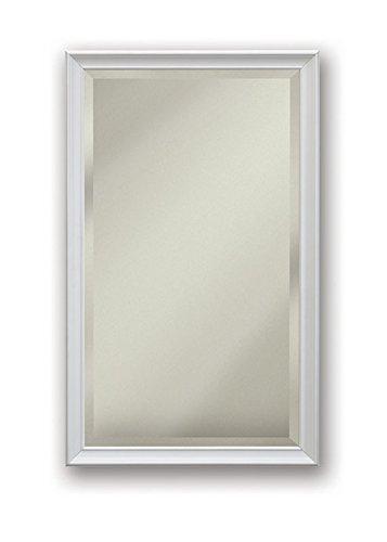 Jensen S568N244SSWHPX Gloss White Frame Bevel Mirror Medicine Cabinet, 15