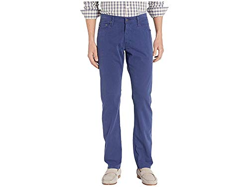 AG Adriano Goldschmied Men's The Graduate Tailored Straight SUD Sueded Stretch Sateen in Broken Tide Broken Tide 33 32 (Finish Sueded Signature)