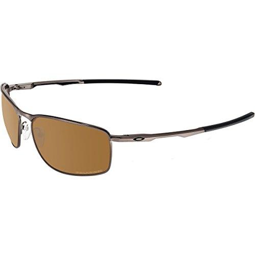 Tungsten Polarized Iridium Sunglasses - Oakley Mens Conductor 8 Iconic Sunglasses, Tungsten/Tungsten Iridium Polar, One Size