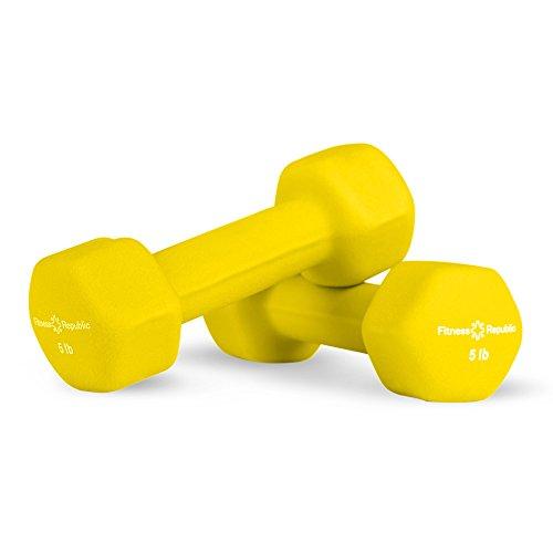 Fitness Republic Neoprene 2 Dumbbell Pairs Combo (3lbs & 5lbs)