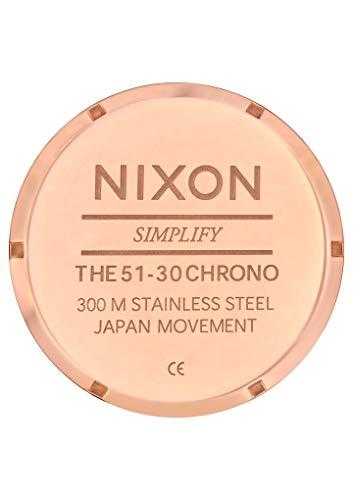 Nixon Mixte Adulte Chronographe Quartz Montre avec Bracelet en Acier Inoxydable A083-897-00