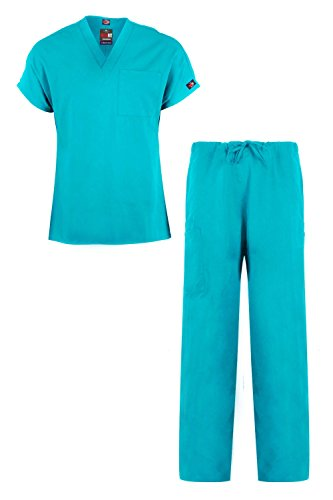 Belted Two Piece (MediFit Men's Basic Solid Two Piece Medical Top & Pants Scrub Set(MENSET-MED,LGN-2XL))