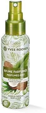 Yves Rocher Sensual Perfumed Body and Hair Mist - Coconut, 100 ml./3.3 fl.oz. Spray.