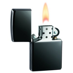 Zippo Personalized Custom Engraved Lighter, Black Ice Finish