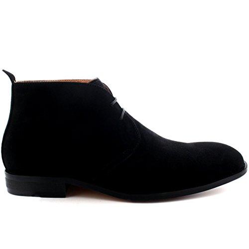 Spencer Mid Britannico Scarpe Deserto Caviglia Chukka Cut Nero Stile Queensbury Stivali Uomo 1qYFdd