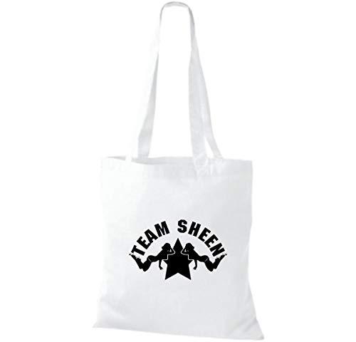 Bolso Para De Blanco Shirtinstyle Algodón Mujer Tela dF0UqUxwf