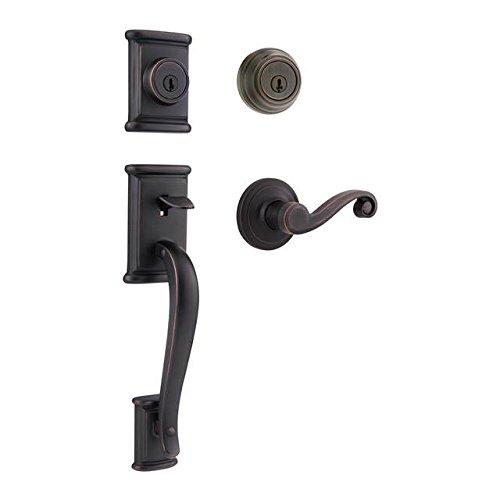 Kwikset 801ADH/967LL-11P Venetian Bronze Ashfield Double Cylinder Handleset with Lido ()