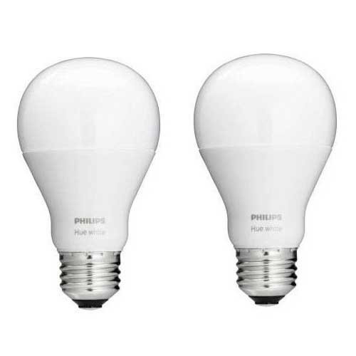 philips 455295 hue white a19 single led bulb 60w equivalent 2 pack works with ebay. Black Bedroom Furniture Sets. Home Design Ideas