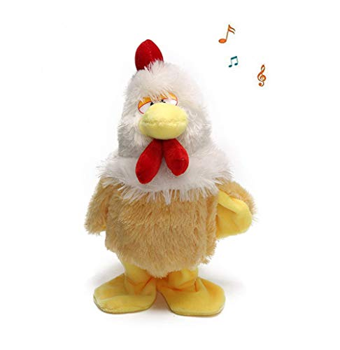 SLONG Children Interactive Plush Electric Toy Walking Music Puzzle Stuffed Pets Happy Crazy Chicken