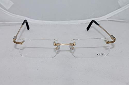 FRED Samoa F2 002 S.54 Eyeglasses Palladium Champagne RX Frame -