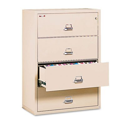 Four-Drawer Lateral File, 37-1/2w x 22-1/8d, Letter/Legal, Parchment, Sold as 1 Each