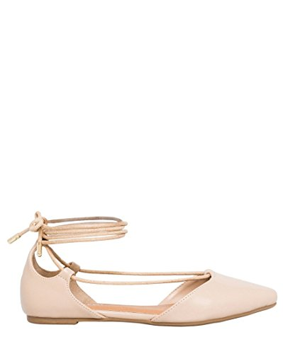 LE CHÂTEAU Women's Leather-Like Ghillie Tie Shoes Flat B0799H53VP Shoes Tie 67e0b2