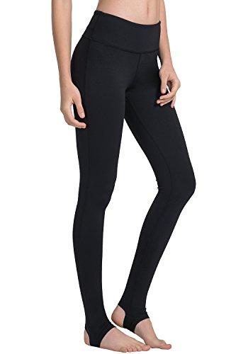 Matymats Women's Active Yoga Barre Workout Stirrup Leggings Pants (X-Large/Tag Size 10, (Flatter Fit Tummy Control Pants)